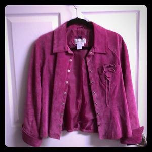 Live a Luttle Suede Pink Jacket Size M